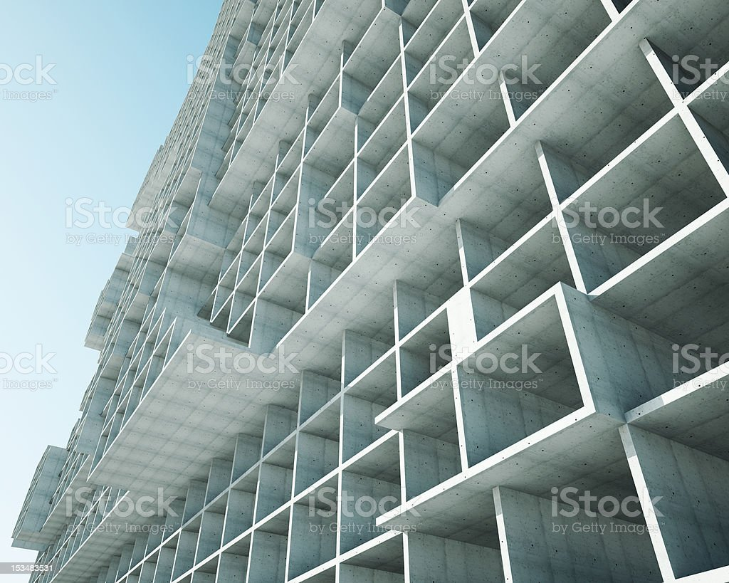 the concept of building structures royalty-free stock photo