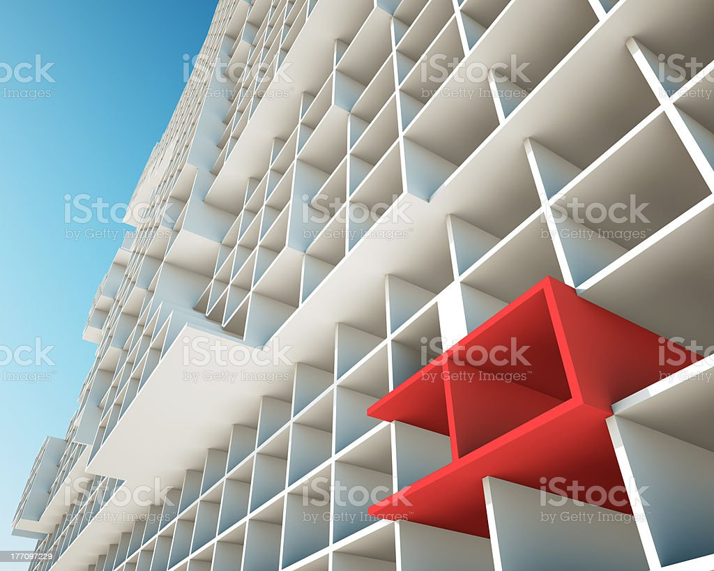 the concept of building structures stock photo