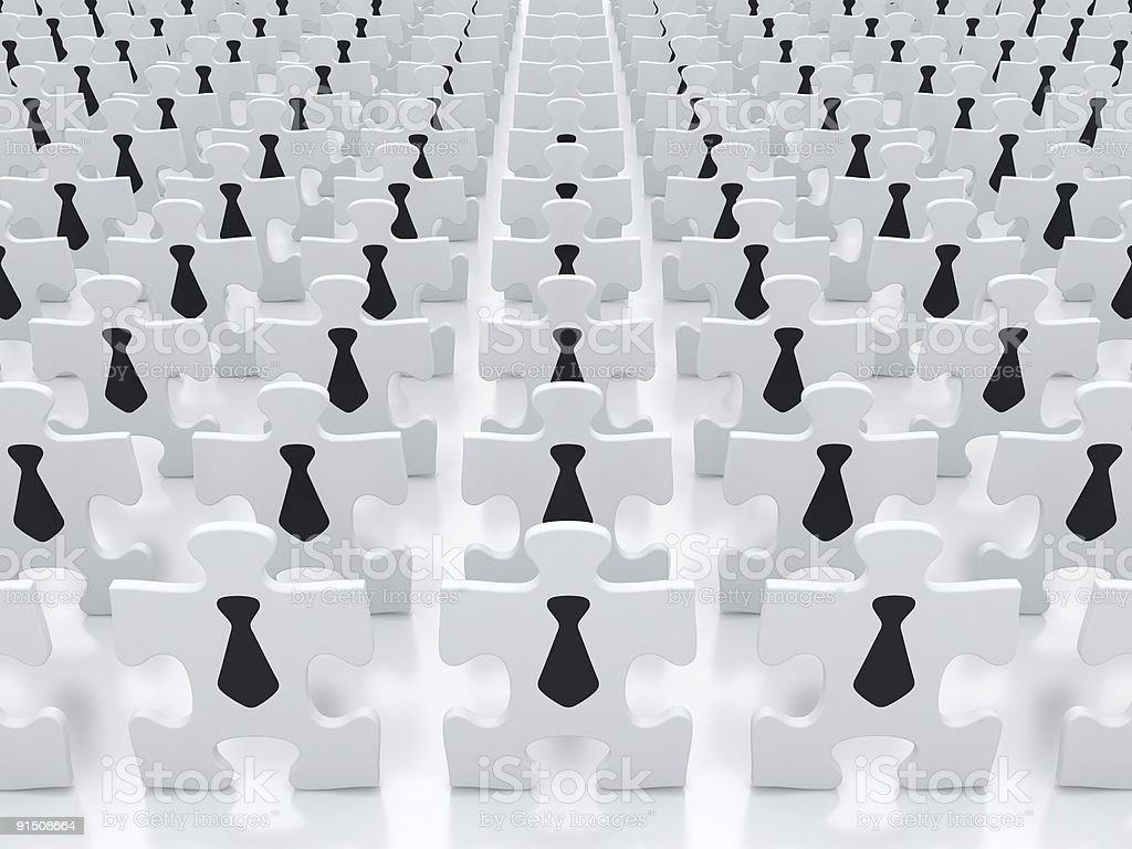 The concept of business people crowds royalty-free stock photo