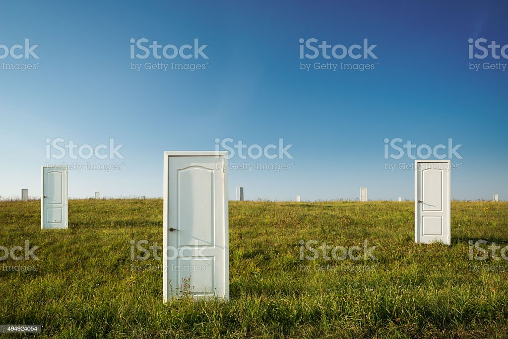 The concept of choice stock photo