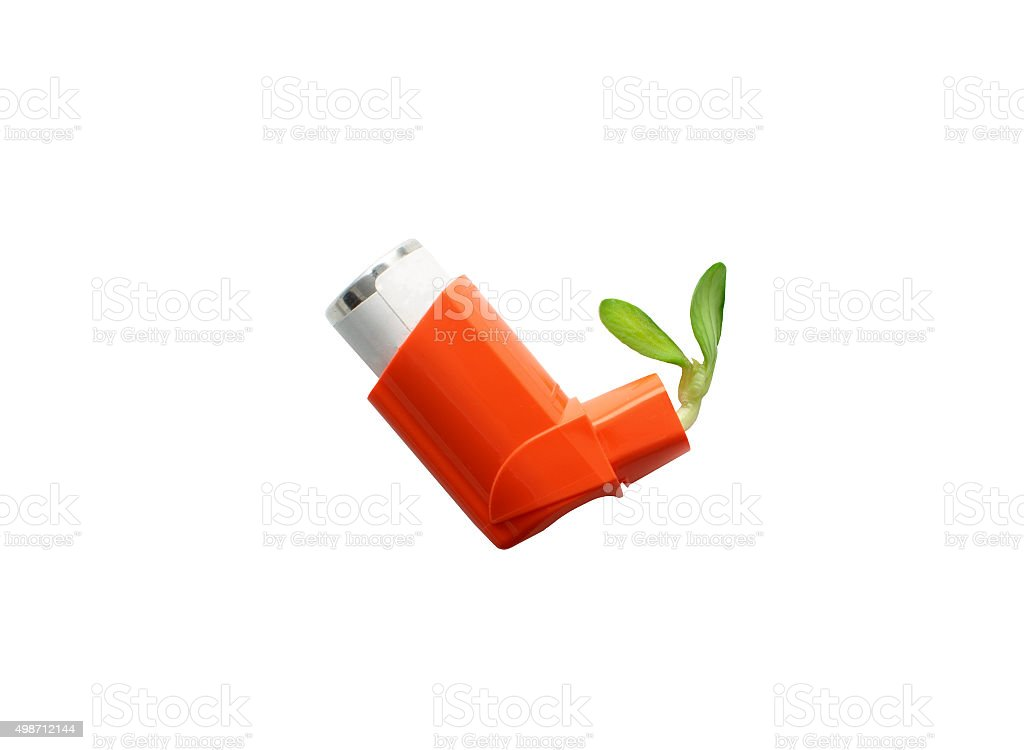 the concept of control asthma stock photo