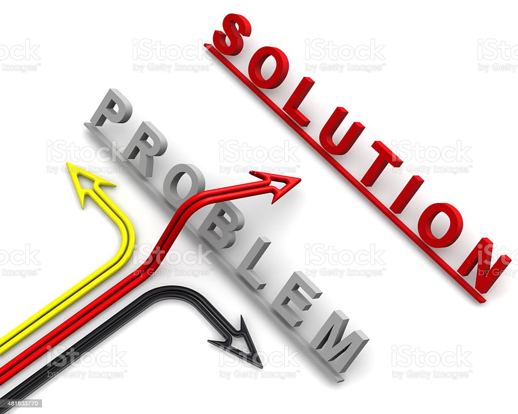 The concept of problem solving stock photo