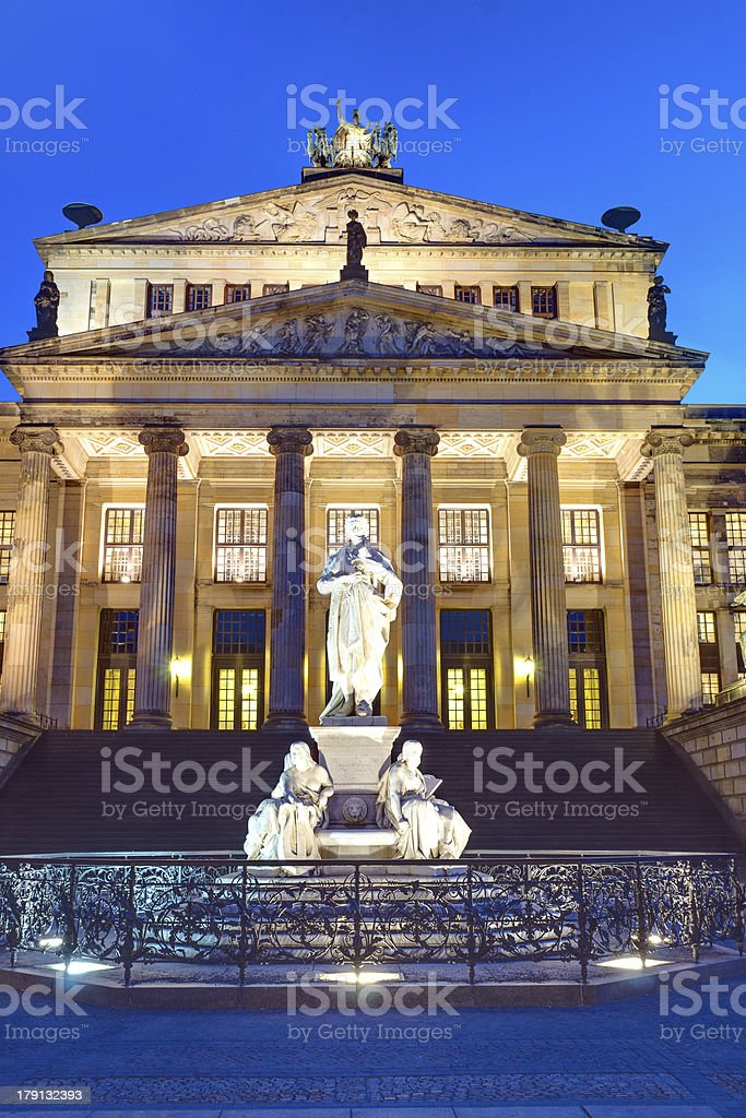 The Concert hall in Berlin royalty-free stock photo