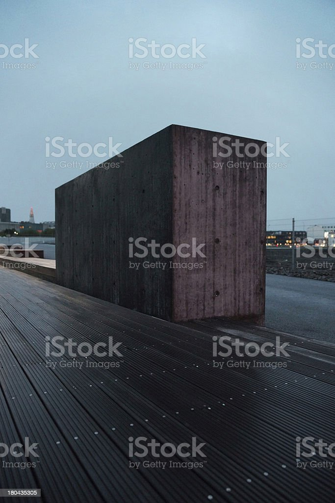 The Concrete Block royalty-free stock photo