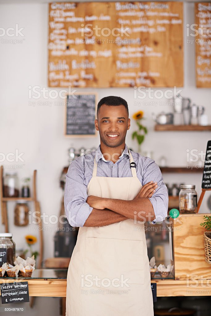 The confidence that comes from owning a successful small business stock photo