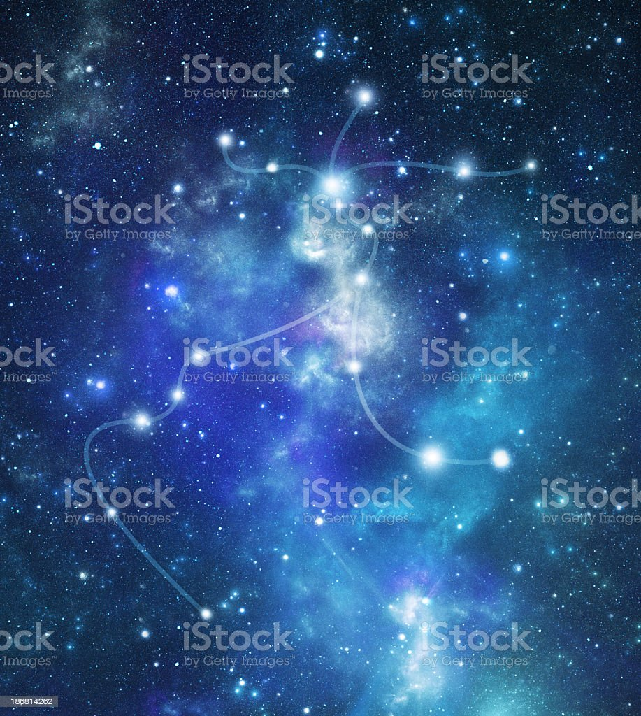 The constellation, Centaurus in the milky way stock photo