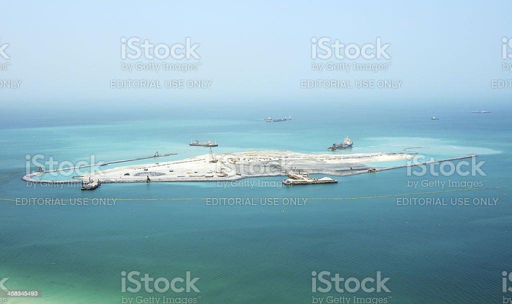 The construction of 210-metre Dubai Eye stock photo
