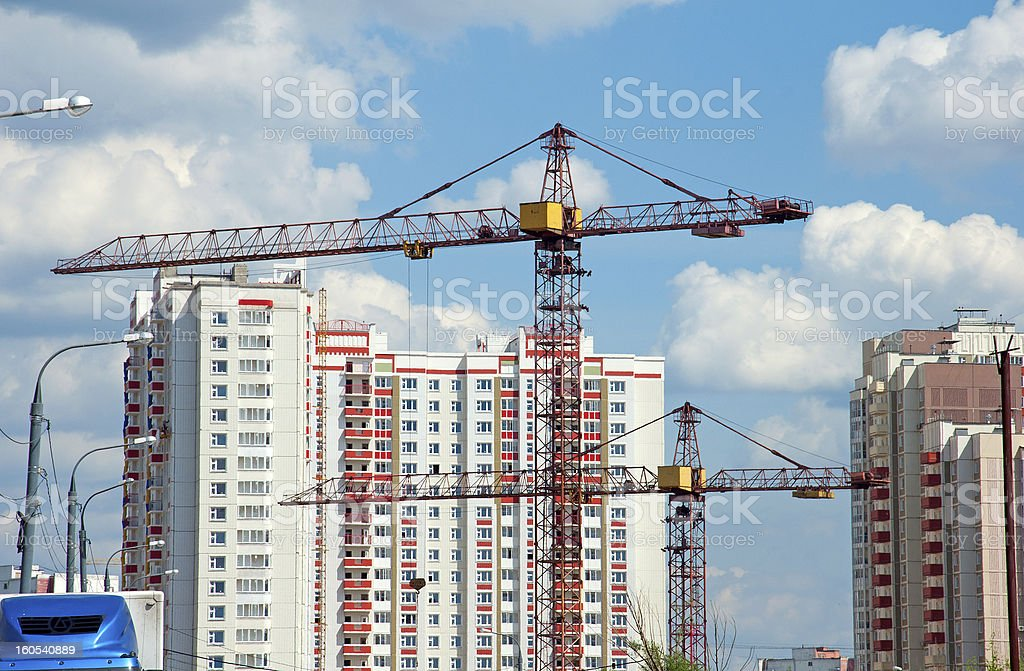 The construction of modern residential royalty-free stock photo