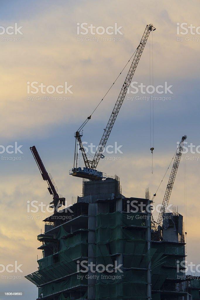 The construction. stock photo