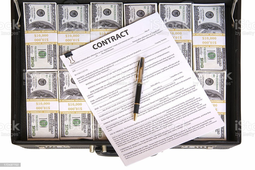 The Contract royalty-free stock photo