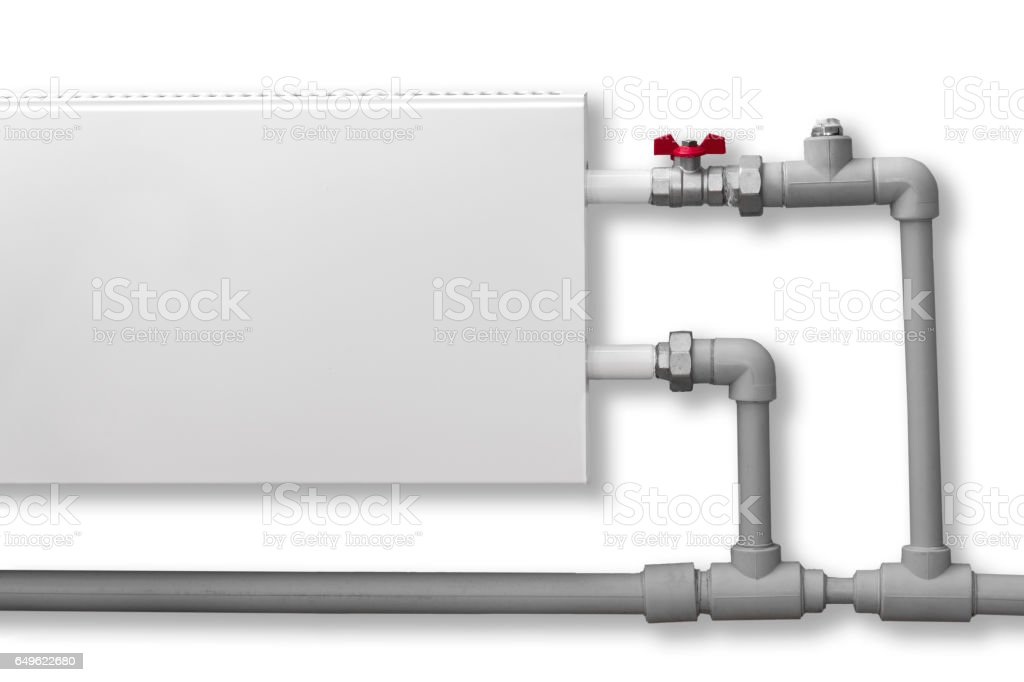 The convector heating closeup stock photo