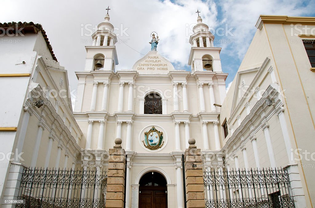 The Convent of San Agustin in Sucre Bolivia stock photo