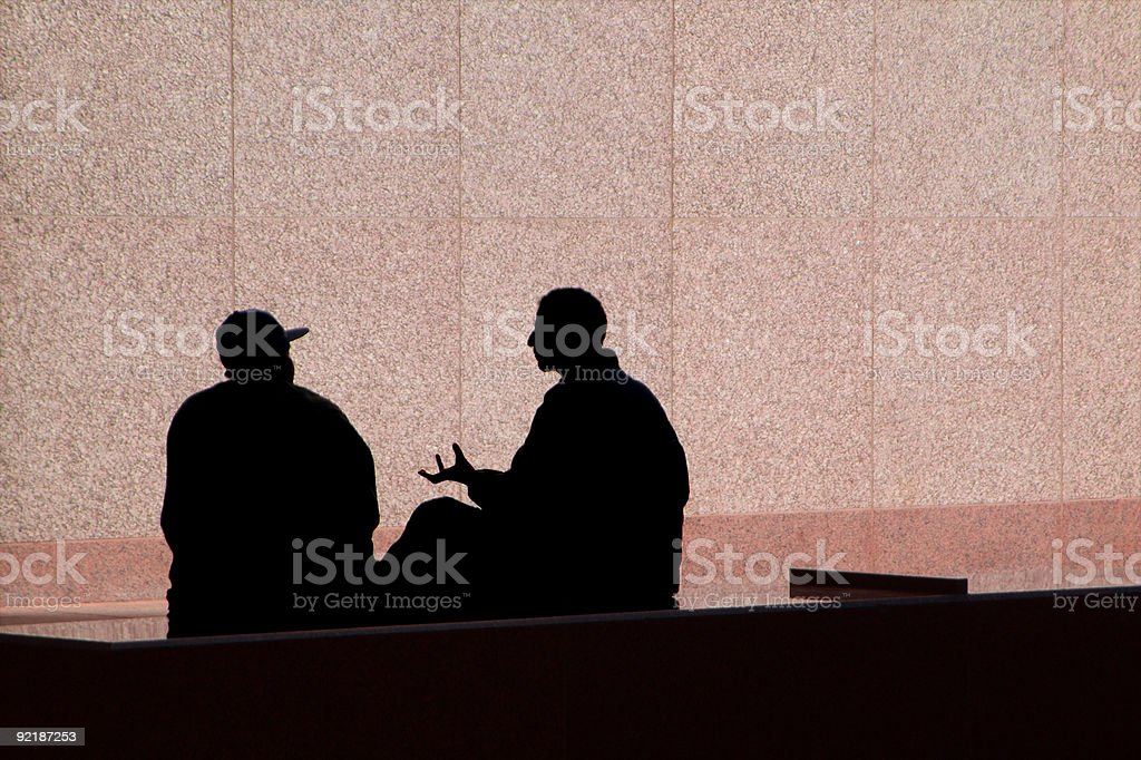 The Conversation royalty-free stock photo