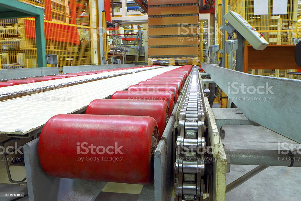 The conveyor line at factory stock photo