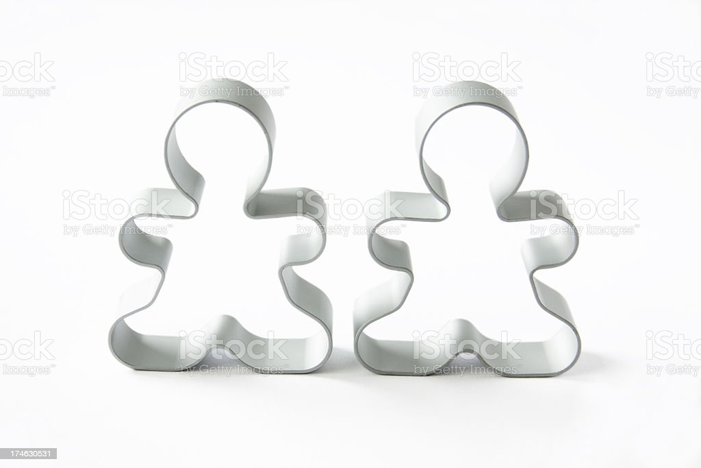 The Cookie Cutter Couple royalty-free stock photo