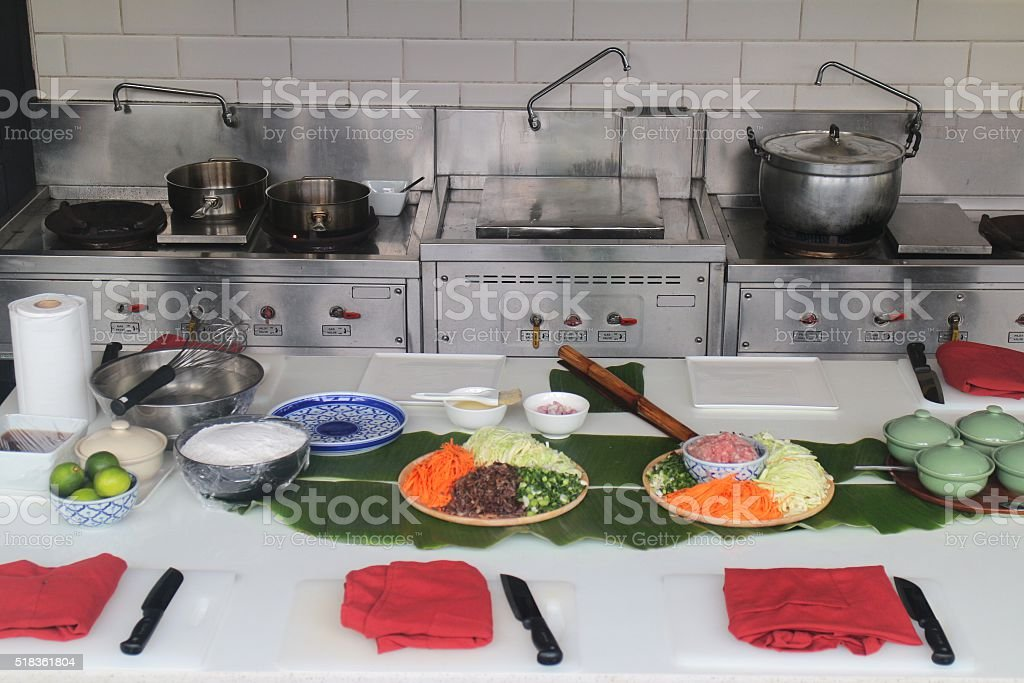 The cooking classroom style stock photo