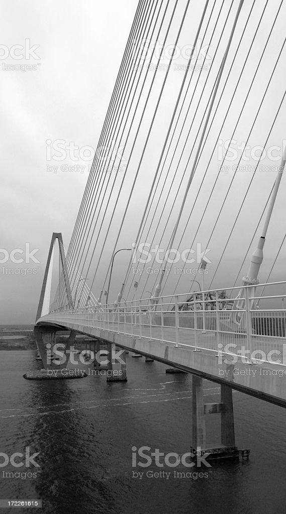 The Cooper River Bridge royalty-free stock photo