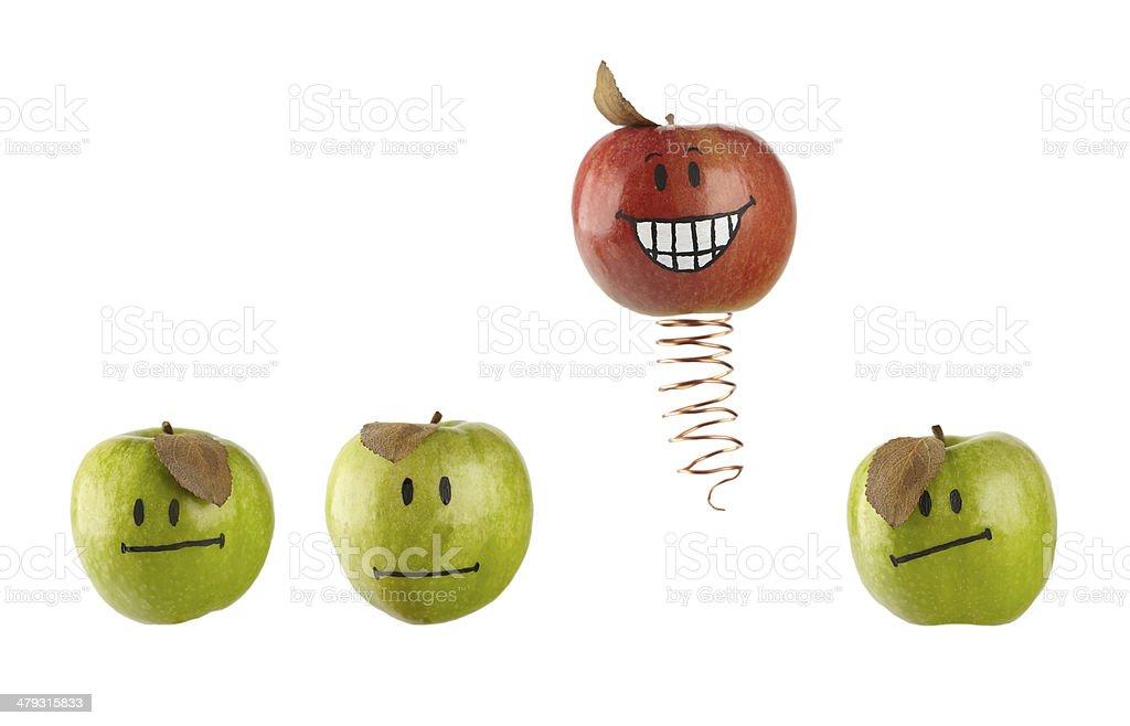 'The Coosen One' apple concept stock photo