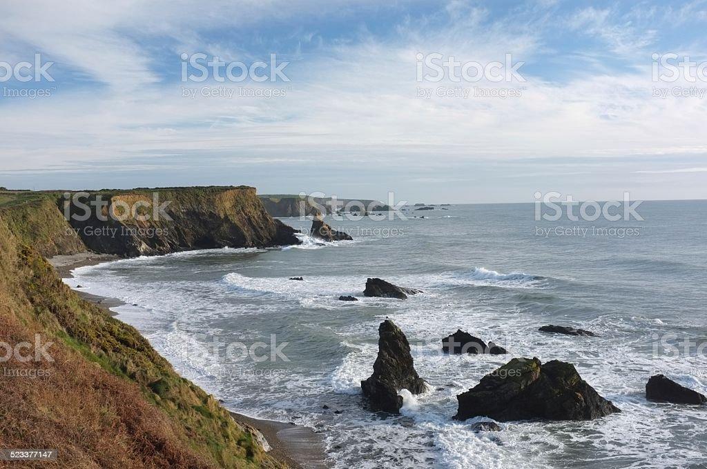 The Copper Coast, Co. Wexford, Ireland stock photo