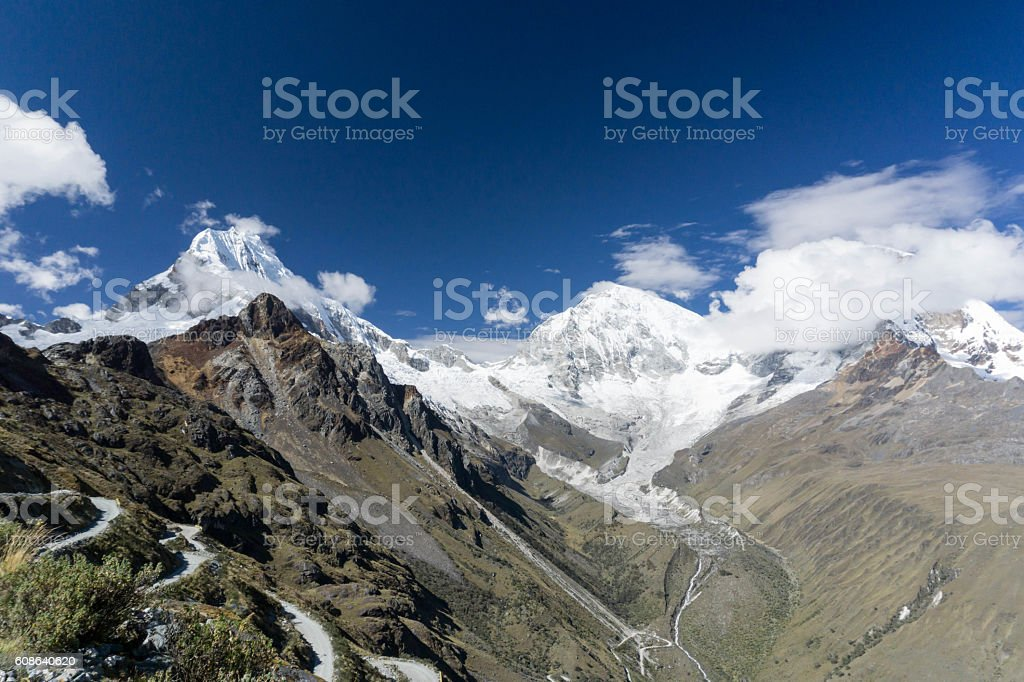 the Cordillera Blanca in Peru stock photo