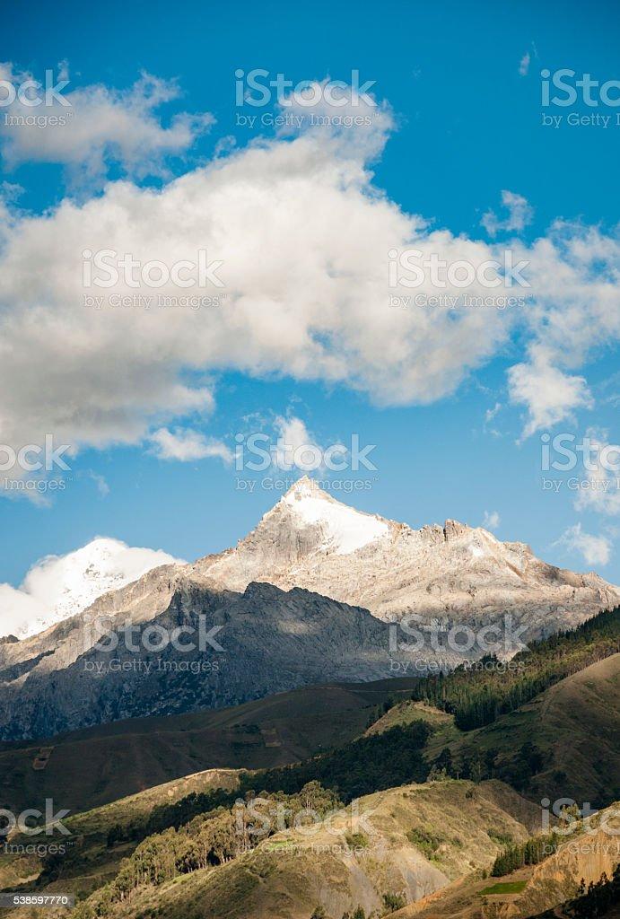The Cordillera Blanca Mountain Range In The Andes, Peru stock photo