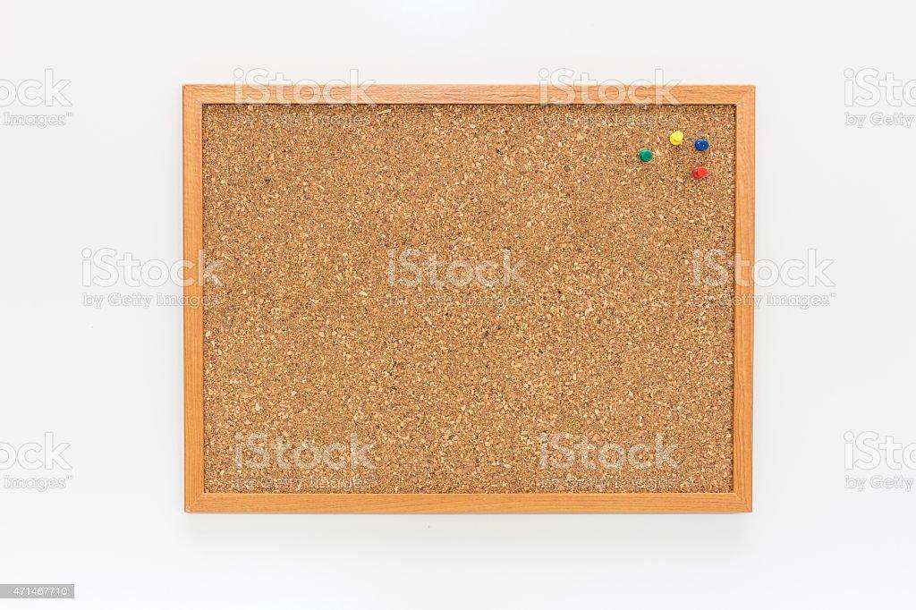 The cork board stock photo