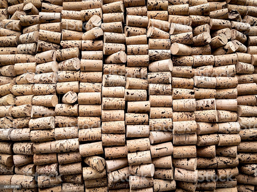 The cork industry stock photo