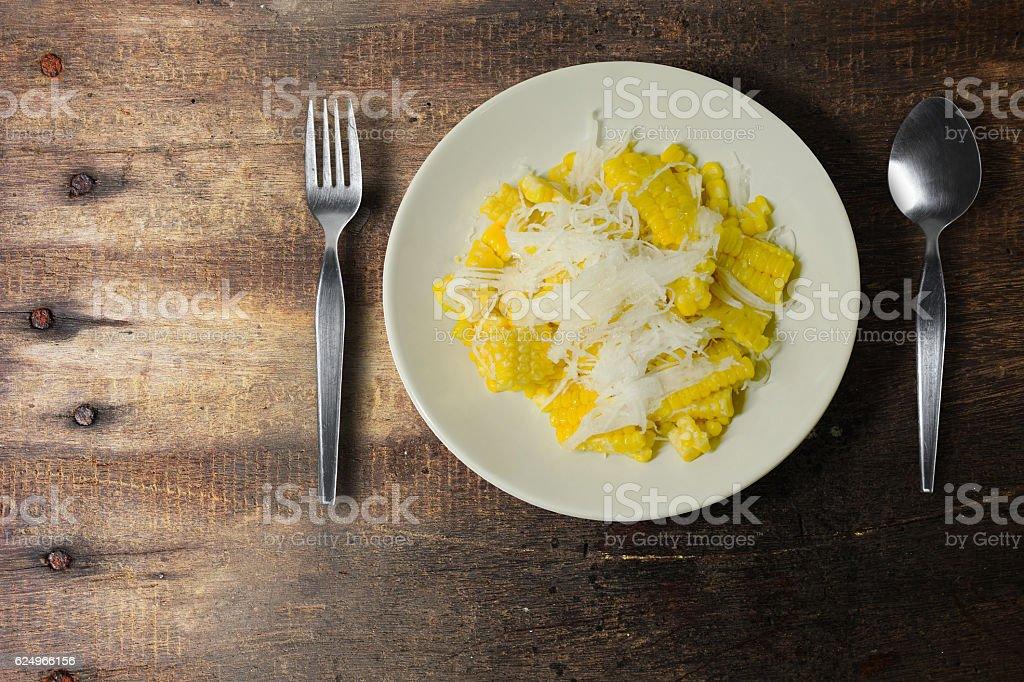 The corn slice. stock photo
