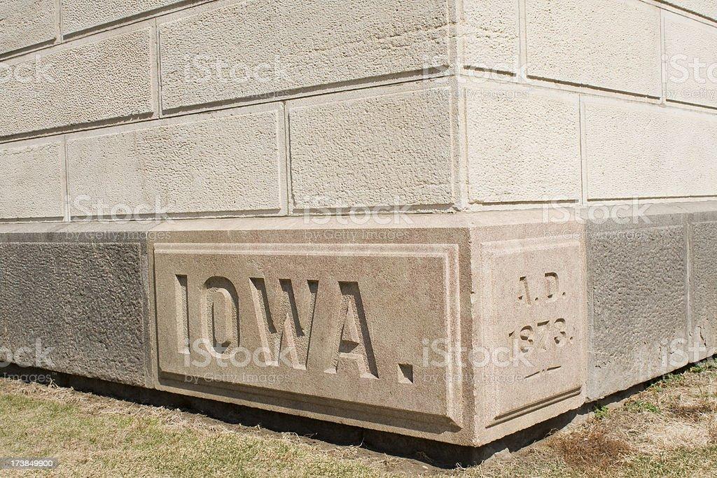 The cornerstone of Iowa royalty-free stock photo