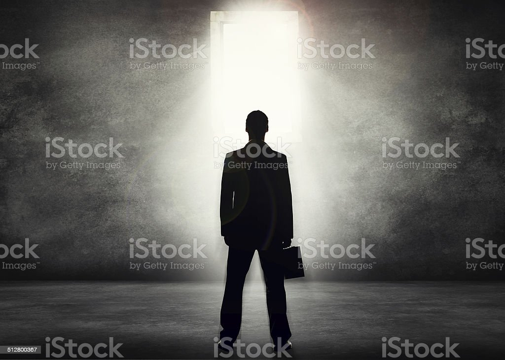 The corporate world beckons stock photo