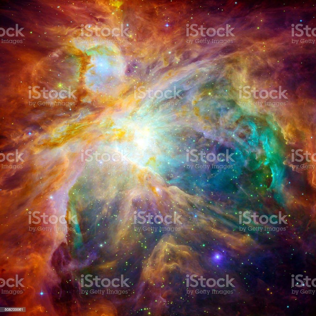 The cosmic cloud Orion Nebula stock photo