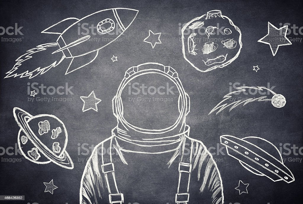 The cosmonaut stock photo