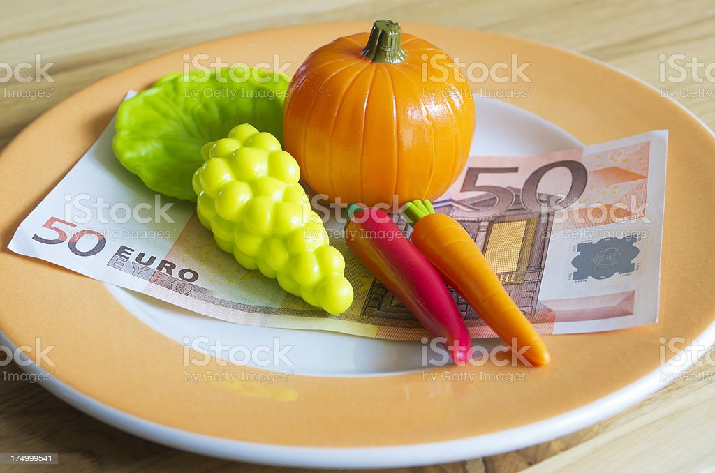 The cost of food royalty-free stock photo