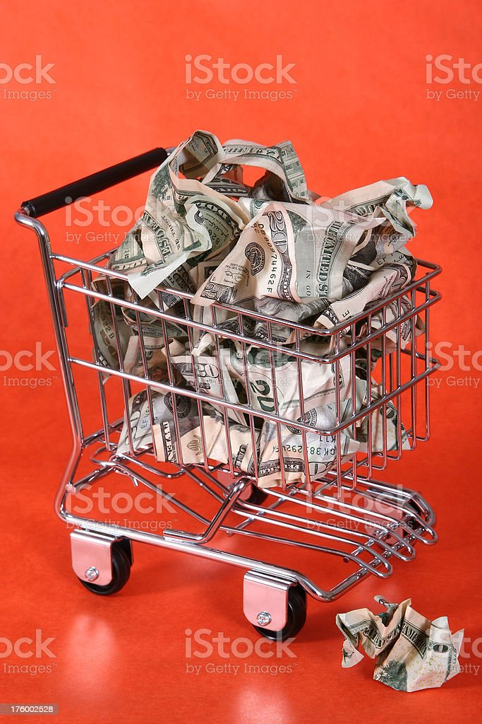 The cost of shopping 02. stock photo