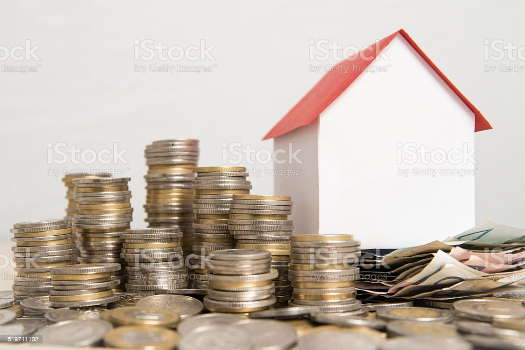 The costs associated with maintaining the house. stock photo
