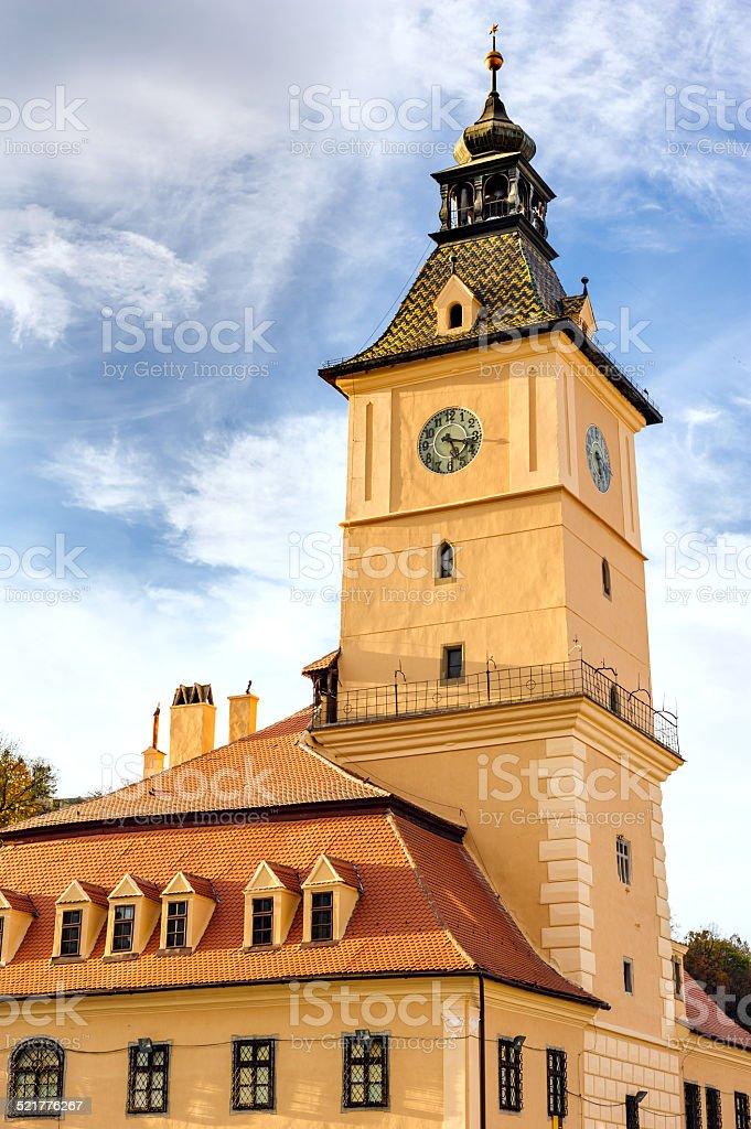 The Council Square, Brasov, Romania stock photo