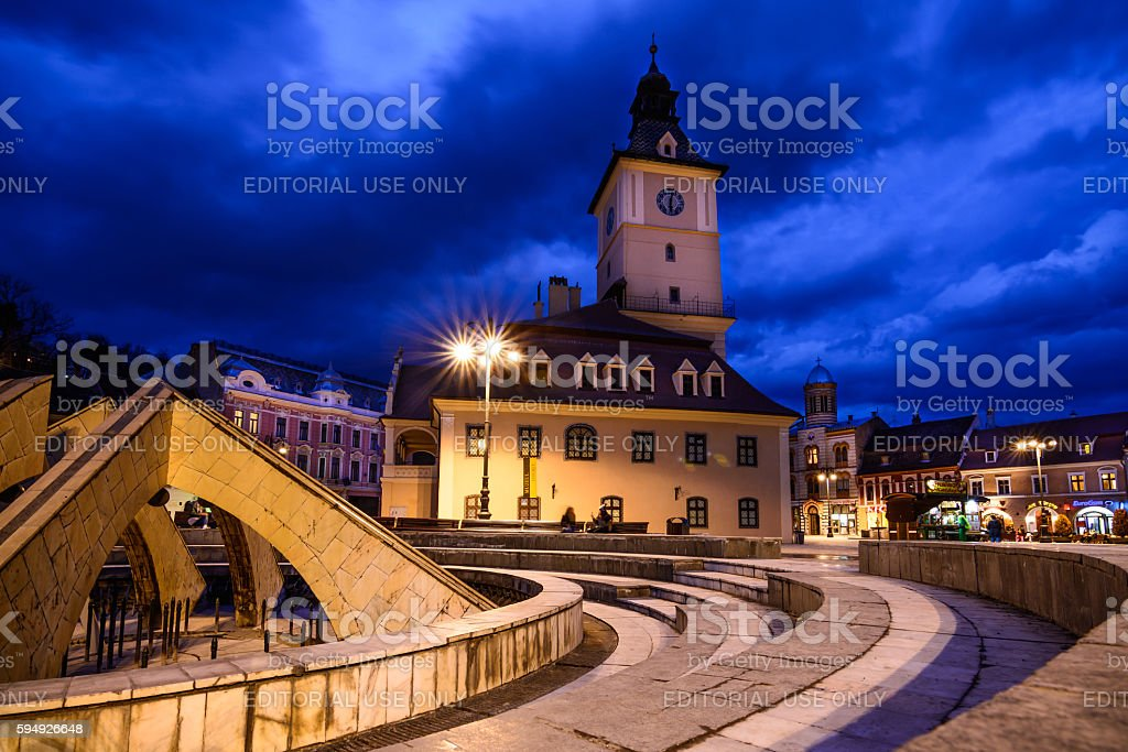 The Council Square on February 23 stock photo
