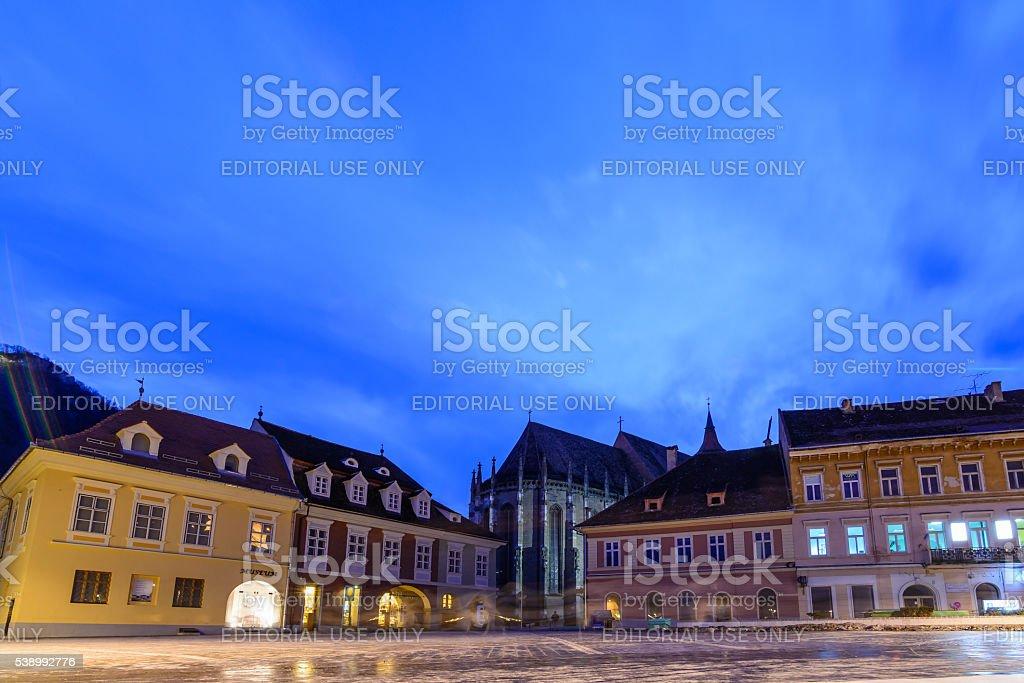 Brasov, Romania - February 23: The Council Square stock photo