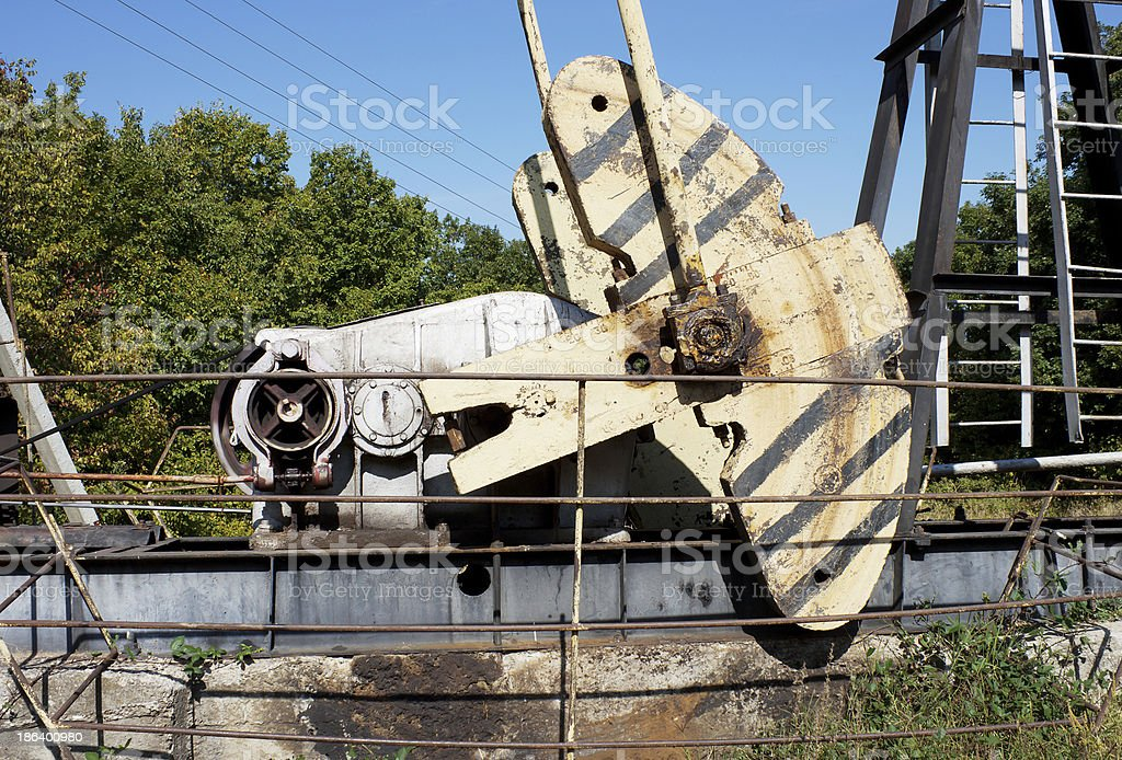The counterweight  oil machine- rocking chair royalty-free stock photo