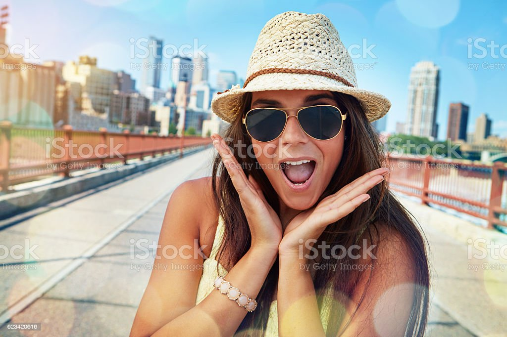 The countryside is beautiful but the city is exciting stock photo
