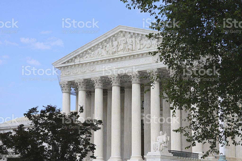The court house in Washington DC royalty-free stock photo