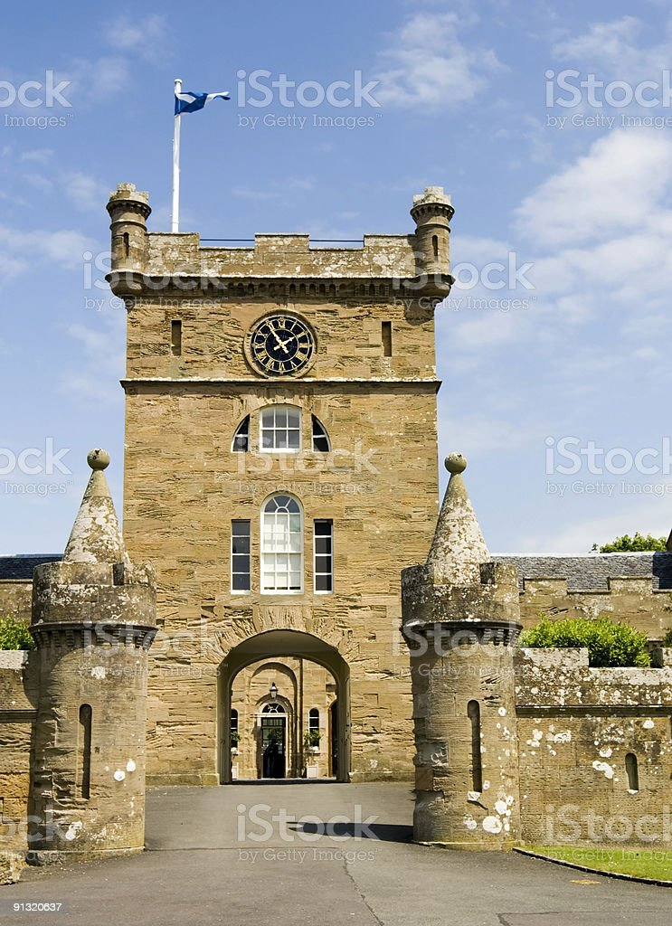 The courtyard tower stock photo