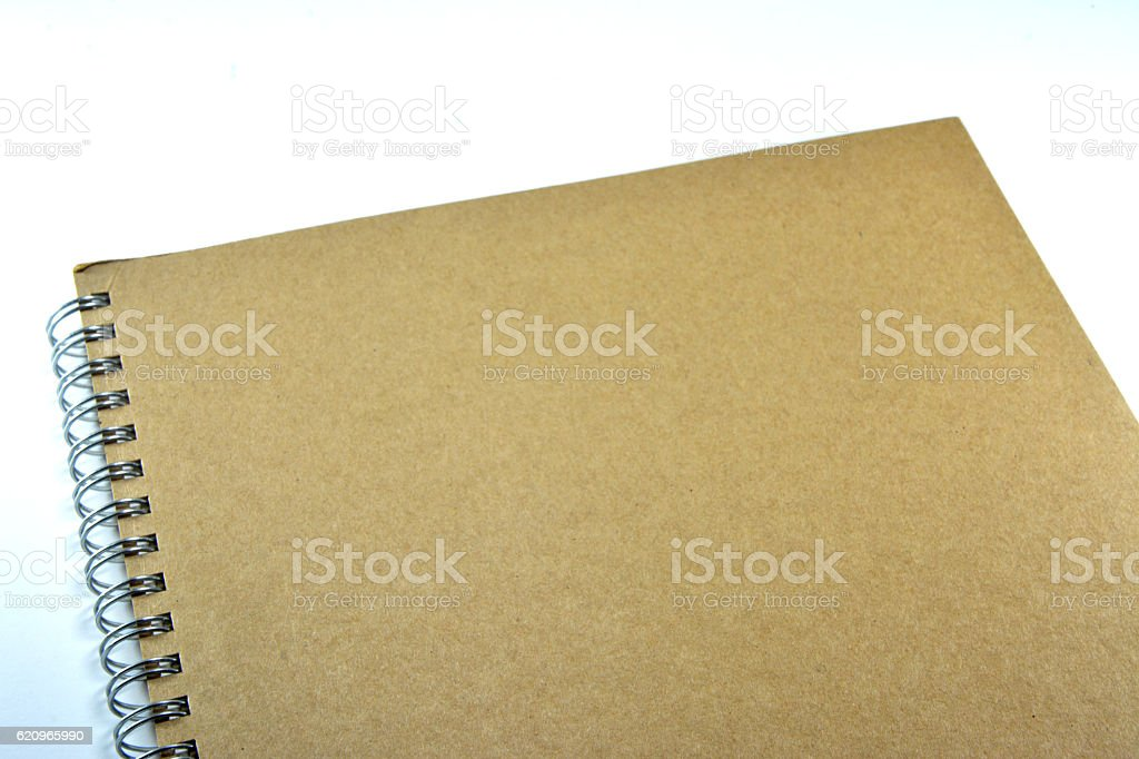 The cover of a blank notebook. stock photo