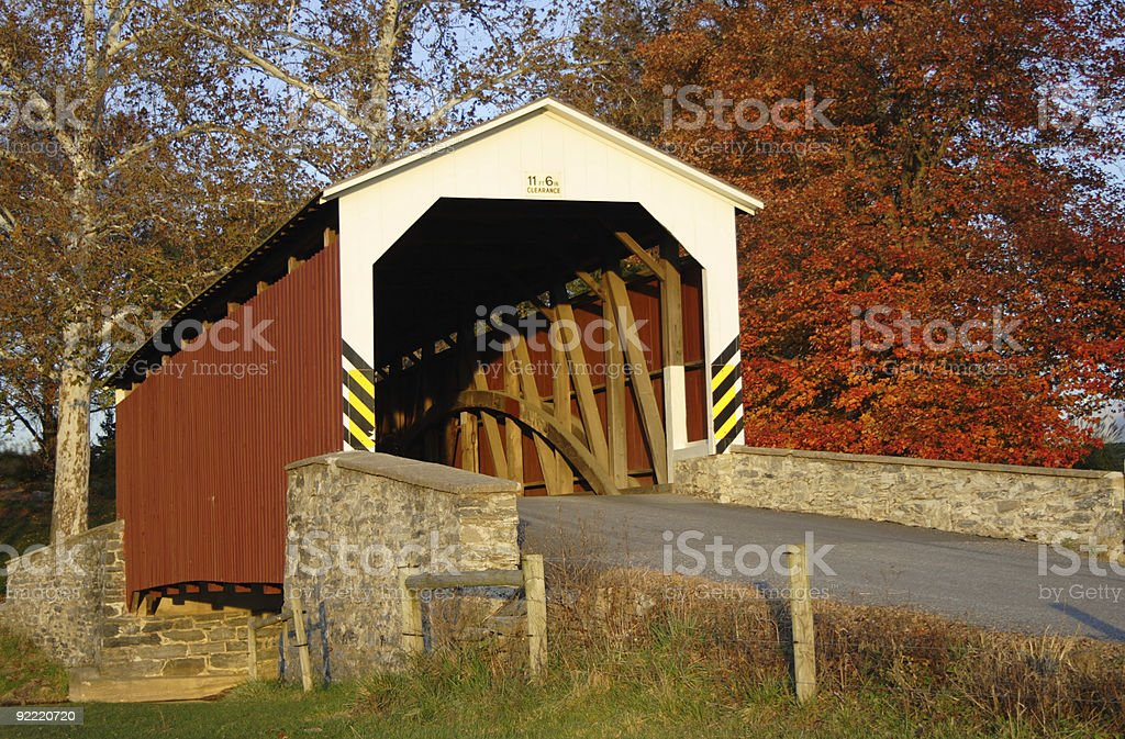 The Covered Bridge royalty-free stock photo