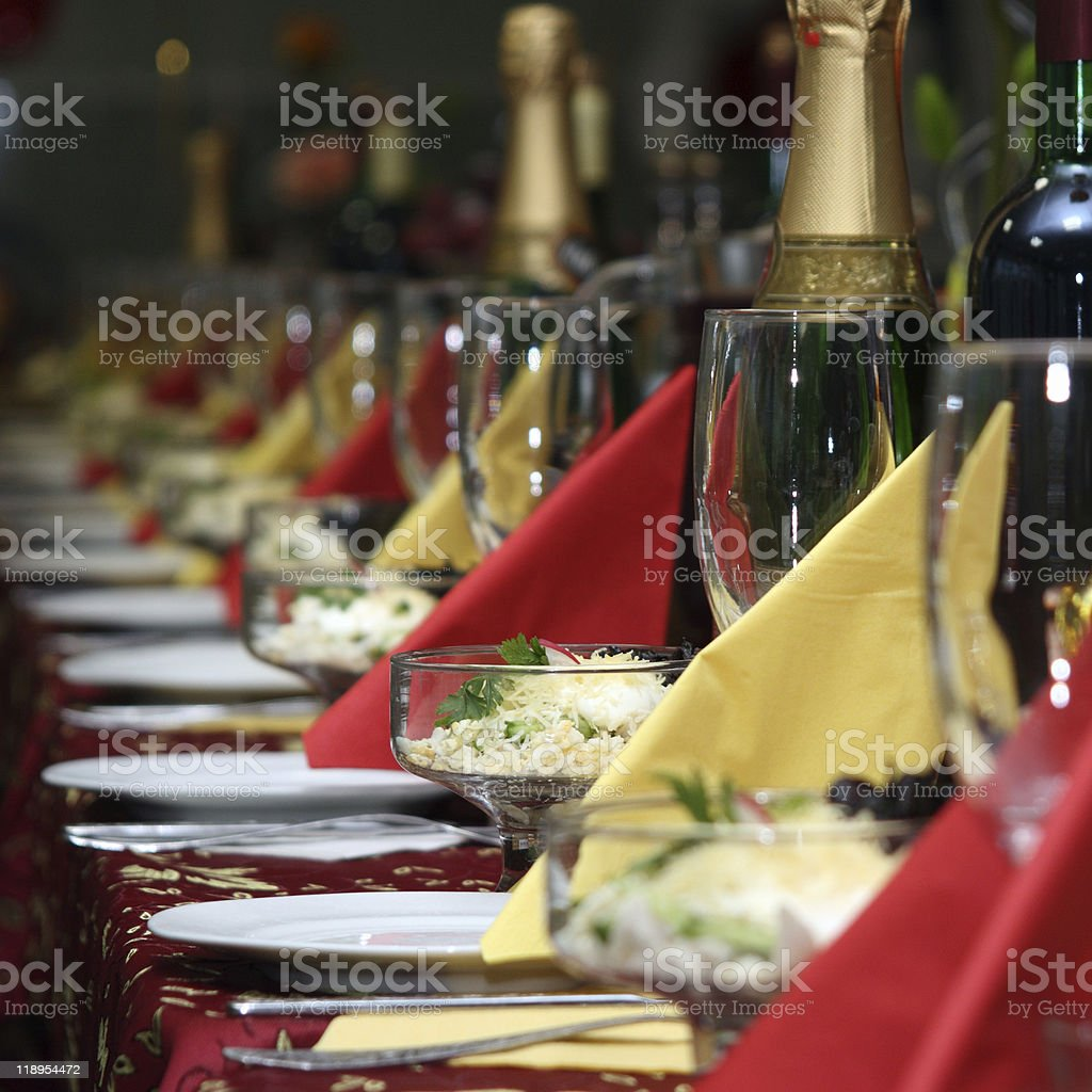 The covered table royalty-free stock photo