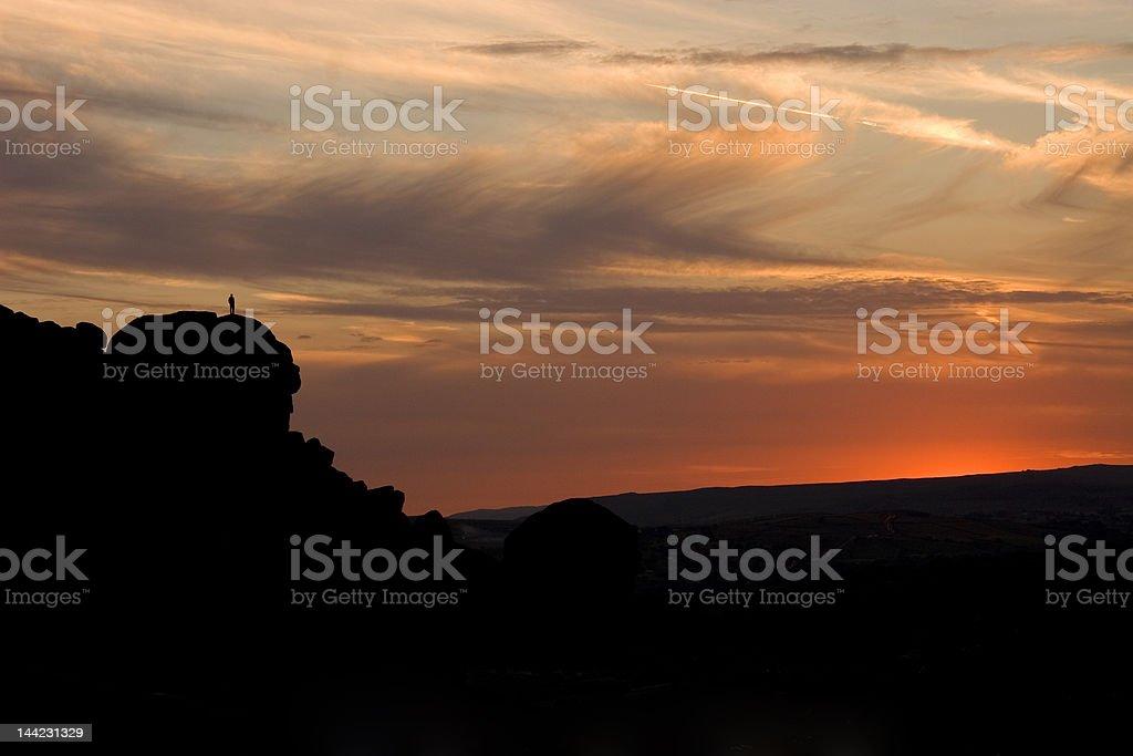 The Cow & Calf Rocks Ilkley Moor stock photo