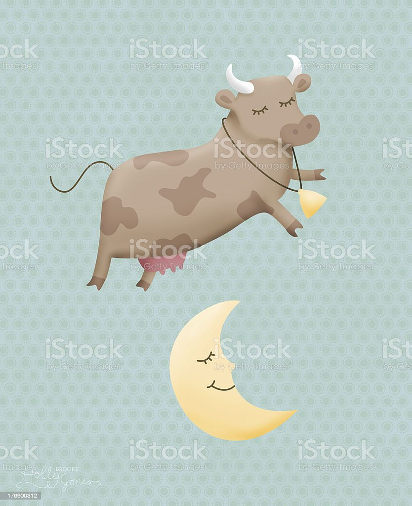 The cow jumped over moon stock photo