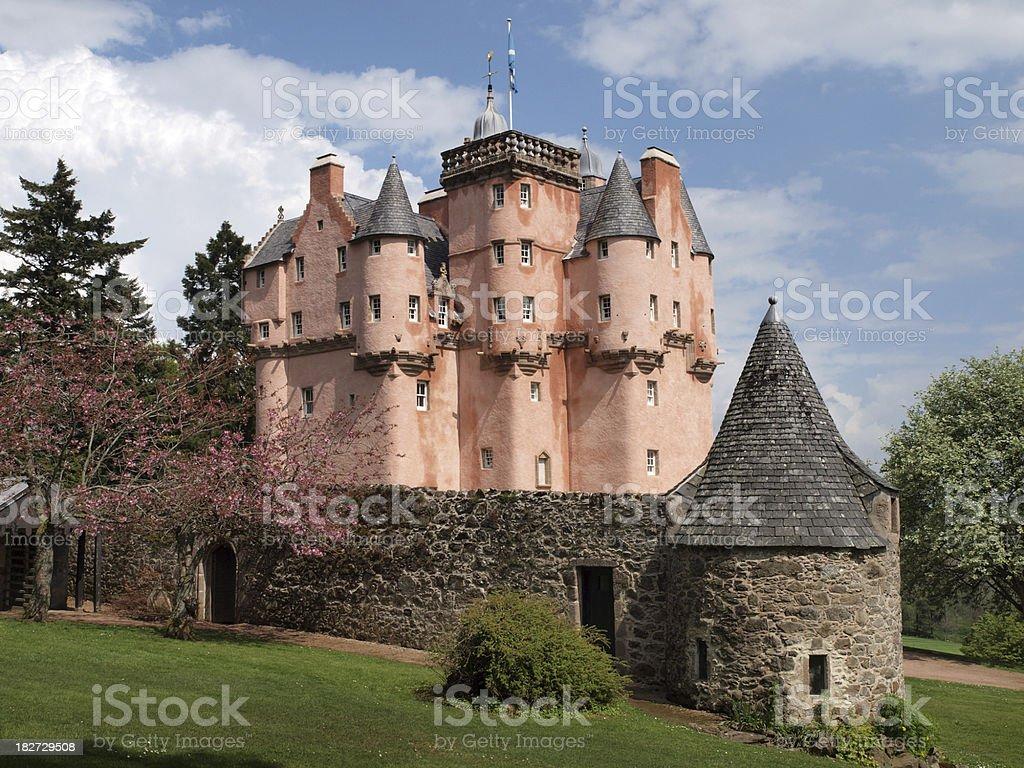 The Craigievar Castle in Scotland. stock photo