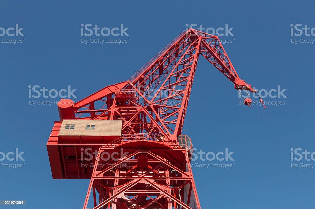 The crane stock photo
