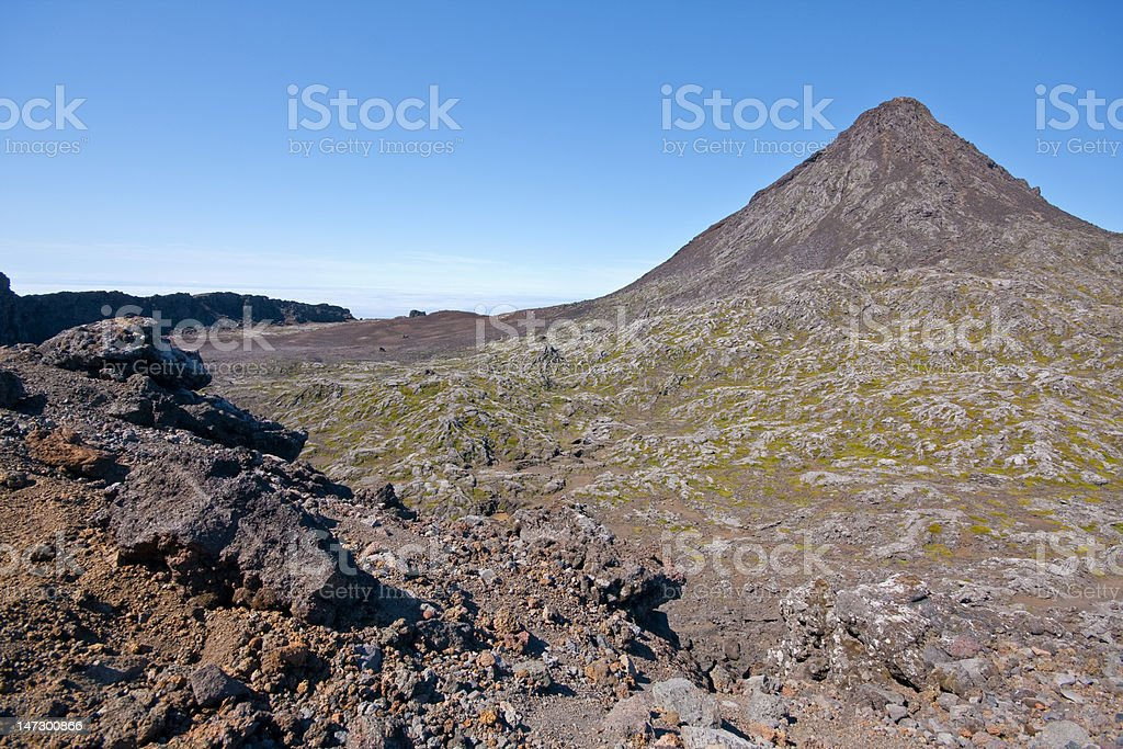 """The crater of """"The Mountain"""" in Pico Island - Azores stock photo"""
